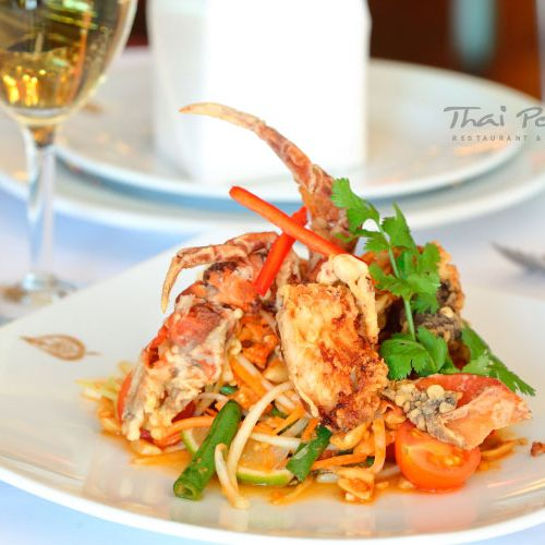 Papaya Soft Shell Crab Salad